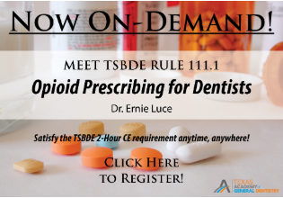 Opioid Prescribing for Dentists with Dr. Ernie Luce - Online Course