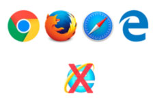 Supported browsers do not include Internet Explorer